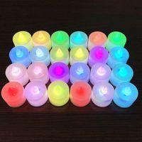 할로윈 양초 등 8 색 배터리 LED 양초 무 화염 점멸 잡초 생일 파티 장식 조명 KKB1을 운영