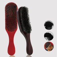 Природная щетина волна Щетка для волос Бороды Combs Бук Texture Anti-Static массаж головы расчески волос Уход Сушка Styling Tool