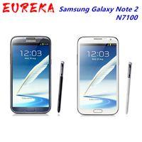 """100٪ الأصلي N7100 مقفلة Samsung Galaxy Note 2 II N7100 الهاتف المحمول 5.5 """"رباعية النواة 8MP GPS WCDMA تم تجديد الهاتف الذكي"""