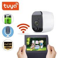 MINI CAMERAS TUYA Cámara IP al aire libre 1080P HD Batería HD WiFi Vigilancia inalámbrica 2.0MP Seguridad para el hogar Alarma a prueba de agua PIR POTENCIA