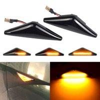 2 adet Dinamik LED Yan Marker Işıkları 12 V Akan Dönüş Sinyal Işık Ford Mondeo MK3 2000-2006 Odak MK1 1998-2004