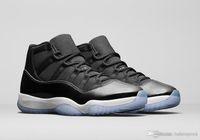 2019 Hava Otantik 11 Space Jam 45 2016 Yayın Siyah Concord Beyaz Adam Basketbol Ayakkabı Gerçek Karbon Elyaf Spor Sneakers 378037-003 40-46