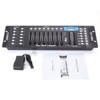 Metal automáticamente controlador DJ 192CH DMX512 DJ LED Etapa Controlador de luz (AC 100-240V) para focos de cabeza móvil Control de la etapa de discoteca