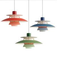 고품질 E27 펜던트 빛 다채로운 우산 주도 룸 주도 펜던트 램프 LED Lamparas 조명기구 식사 램프를 일시 중단