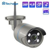 Techage 1080P 2MP Беспроводная IP-камера Открытый Водонепроницаемый Безопасность Аудио WiFi камера для беспроводной системы видеонаблюдения Kit IP Pro APP View