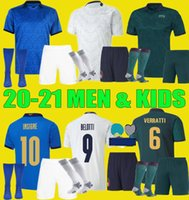 20 21 italy home soccer jersey Men Kids KITS 2020 2021 itali...