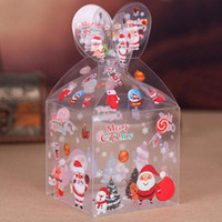 Viele Arten PVC Transparent-Süßigkeit-Kasten, Weihnachtsdekoration, Geschenkkarton und Verpackung Weihnachtsmann Schneemann Elch Rentier Süßigkeit Apple Box DHC1777