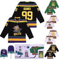 Mighty Enten Film Gordon Bombay 96 Charlie Conway 99 Adam Banken Greg Goldberg 44 Fulton Reed Hockey Jersey