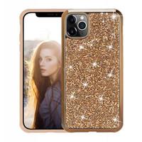 2020 Nouvelle 2 en 1 diamant strass Bling Glitter Phone Cases pour l'iPhone 12 11 Pro Max XR XS 6 7 8 Plus Samsung Note 10 S10 Ultra plus S20