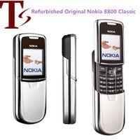 Remodelado Original Nokia 8800 celular 2G GSM Tri-Band desbloqueado clássico 8800 russo teclado árabe 3 cores