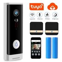 1080P Tuya WIFI-Türklingel-Überwachungskamera Wireless-HD-Video Audio Intercom Türklingel Smart Home Monitor-Cloud-Service-Bell-Kamera