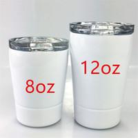 Payet Coffee Cup A12 ile 8oz Sublime Çocuklar Kupalar Paslanmaz Çelik Su Şişeleri Çift Katlı Çocuk Bardaklar Taşınabilir Spor Su Şişeleri