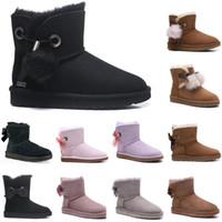 2020 Yeni Avustralya kadınlar moda kar botları kış çizme Mini bayanlar Mini ayak bileği klasik kız kahverengi boyutunu üçlü  women men kids  slippers furry boots slides