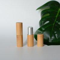 5 adet / grup 5 ml Doğal Bambu Kabuk Ruj Tüpleri Ambalaj Şişeleri Boş DIY Kozmetik Balsamı Bakım Konteynerleri