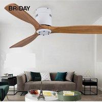 42 52 inch ceiling fan industrial vintage wooden ventilator with no light Remete control decorative blower wood retro fans