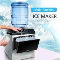 Cozinha, Bar de jantar Elétrica Ice Maker Bullet Cilíndrico Casa Cubo Ice-Cubo Fazendo Bancada Máquina para Comercial Pequeno Leite Shop 160W
