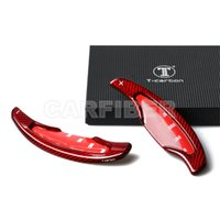 Red Carbon Fiber Steering Wheel Shift Paddle Extension Fit For Cadillac ATS CT6