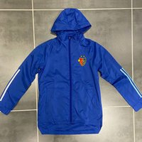 Nuova 2020-21 FC Basel Mens Hoodie calcio giacca a vento cappotto invernale completa chiusura lampo di calcio a vento felpa con cappuccio giacche da uomo
