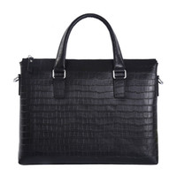 أزياء حقيقية الجلود حقيبة رجال الأعمال الرجال حقيبة الكمبيوتر المحمول حقيبة العلامة التجارية حقائب اليد حقائب الكتف