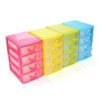 Scatole di immagazzinaggio Bins Four Color Durevole Plastica Mini Desktop Drawer Sundries Caso Small Objects Organization Box per perline pillole anelli gioiello