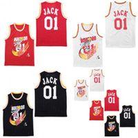 01 잭 트래비스 Scott Jersey 블랙 화이트 레드 공동 블리 박스 리포트 스페셜 에디션 Hippop Basketball Jerseys 더블 Stiched 높은 Quanlity 더블