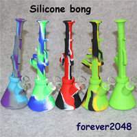 DHL 11' ' height Silicone Bong water Pipe silicone ...