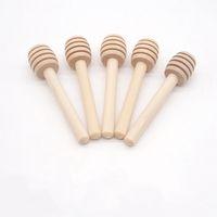 Miel bâton en bois 8cm 10cm Mini Bois miel Dipper Agitateur cuisson Accessoires de cuisine soirée de mariage HHA1570