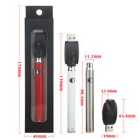 Evod Twist Preheat VV VAPE 510 Thread Slim Batterie mit USB-Ladegerät Variablenspannung 350mAh Black Box Paket Kit