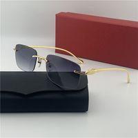 Frau Herren Mode Dessinger Sonnenbrille Männer Gläser Lentes Frames Randlose Farbtöne Berühmte Sonnenbrille Mit Kasten Quadratische Form Männer Eyewear 563429