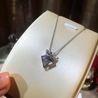 Mode féminine Collier tendance Personnalité simple Pendentif Couronne Hot vente réel 925 collier en argent sterling