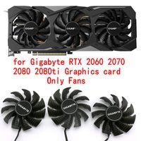 Original pour Gigabyte RTX 2060 2070 2080 2080ti refroidissement Carte graphique vidéo ventilateur PLA09215S12H Diamètre 85MM Pas 42MM
