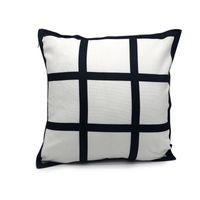 9 Pannello di copertura del cuscino vuoto sublimazione cuscino caso di griglia nero tessuto di poliestere di trasferimento di calore Cuscino di tiro divani federe 40 * 40cm