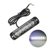 전구 램프 경고 1 배 화이트 6 LED 슬림 12V 24V 24LED 스트로브 빛 자동차 - 모터 차량 트럭 LED 사이드 마커 램프 점멸
