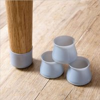 4pcs lot Non-Slip Silicone chair leg caps chair floor protector table feet pads furniture covers Bottom Cups