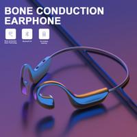 G100 trådlösa hörlurar hörlurar benledning Bluetooth 5.0 headsets utomhus sport handsfree huvudband