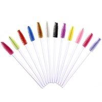 50 Unids Blanco Blanco Mascara Varitas Pinceles De Eyelash Aplicador de Eyebrow Cosmetic Maquillaje Cepillo de Cepillo Kits