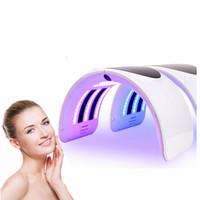 جديد 7 اللون pdt قناع الوجه مصباح الوجه آلة العلاج الفوتون أدى ضوء الجلد التجديد المضادة للتجعد العناية بالبشرة معدات التجميل UPS