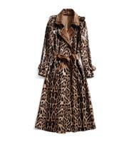 801 2020 Осень Бесплатная Доставка Пальто Мода Женские Траншеистые Пальто Осложневые Шеи Длинный Рукав Женская Одежда JQ