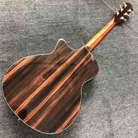 Festes KOA Holz Individueller Echt Abalone Inlays Ebony Griffbrett GPS14c Akustikgitarre mit elektronischer EQ