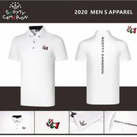 2021 جولف رجالي قصير الأكمام التجفيف السريع أزياء لصق التلبيب الرجال الزى قميص الأعمال