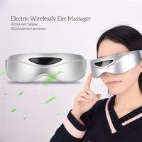 USB aufladbare vibrierender Augemassager Student Office Worker Sehkraft Schutz drahtloser Magnet Massage Brille Maske Eye Care 0