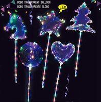Bobo balão transparente Duche incandescência Ballon Bebê Birthday Party Toy Crianças do casamento do Natal do unicórnio Shower Decor balão KKA8111