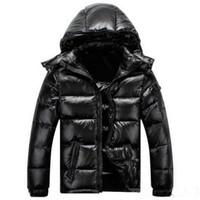 망 디자이너 코트 후드 겨울 윈드 브레이커 코트 두꺼운 까마귀 outwear 빛나는 자켓 남자 다운 재킷