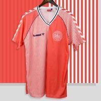 Retro Dinamarca 1986 Futebol Jerseys Larsen Olsen Laudrox Mölby Lerby Dinamarca Dinamarca Futebol Camisa Clássico Kit