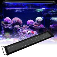 Lampe de corail de mer à spectre de 15W 48Led 23.6inch Noir US Aquarium Standard Pêche Aquarium Éclairage 24hém / h 7 heures automatisé avec contrôleur