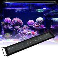 15W 48LED Full Spectrum Sea Coral Lamp 23.6Inch Black US Standard Aquarium Fishing LED-verlichting 24/7 uur Geautomatiseerd met Controller