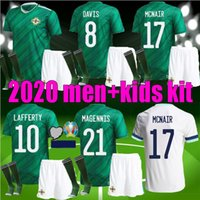 Hommes enfants 19 20 Irlande du Nord Maillots de football Kit LAFFERTY Euro 2020 DAVIS Magennis EVANS MCNAIR BOYCE jeunes adultes football shirt uniforme