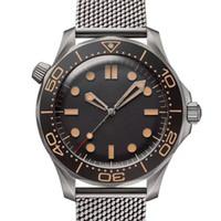 Moda Hombre James Bond 007 Flecha ancha No Tiempo para morir Nylon Correa Mecánico Mecánico Menor Relojes Movimiento Reloj relojes Relojes de pulsera