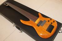 Seltene 7-Sait-Bass-Natürliche feuerlose elektrische Bassgitarre chinesische Gitarre