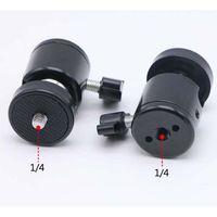 Mini-Kugelkopf 1/4 Halterung für Kamera-Stativ für SB800 SB900 580EX II vidicon Flash-Telefonhalter